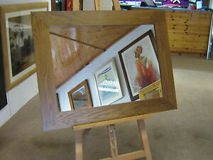 NEW-LARGE-3-034-FLAT-LIGHT-OAK-STAINED-SOLID-OAK-OVERMANTLE-WALL-MIRRORS