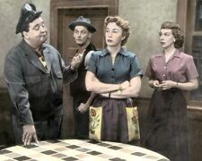 """CAST of THE HONEYMOONERS TELEVISION 1950s 8x10"""" HAND COLOR TINTED PHOTOGRAPH"""