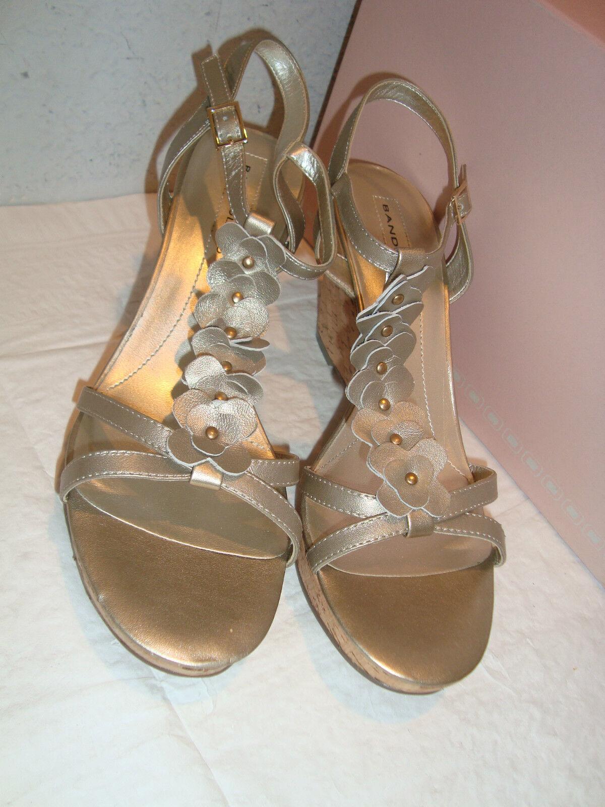 New Bandolino Damenschuhe Ninette Light Gold Wedge Sandaleen Schuhes 10 Medium