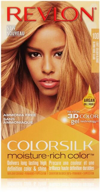 Revlon Colorsilk Color Hair Dye Gray Cover 100 Light Golden Blonde