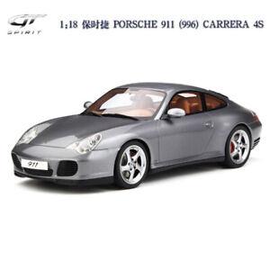 GT-Spirit-1-18-Escala-Modelo-Coche-Porsche-911-996-carrera-4S-Gris-Limitado-999-un