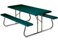 Lifetime Picnic Table 22123 6-foot Plastic Hunter Green Top