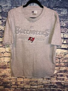NFL Team Apparel Grey Tampa Bay Buccaneers T-shirt Mens Size L Rare🔥