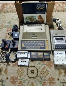 Atari 400 Home Computer with Atari 410 Program Recorder And More