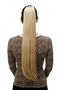 Postiche-Tresse-Tres-Long-Lisse-Epingle-a-Cheveux-Papillon-Env-70-cm-Fauve