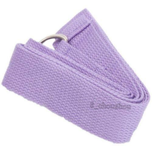 D-Ring Cotton Yoga Stretch Strap Training Belt Leg Fitness Exercise Gym HD