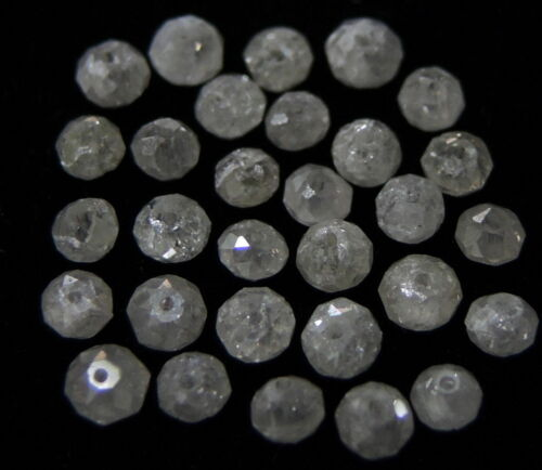Natural Loose Diamond Fecet Round Bead Ice Gray Color I1 Clarity 1.00 Ct Lot Q51