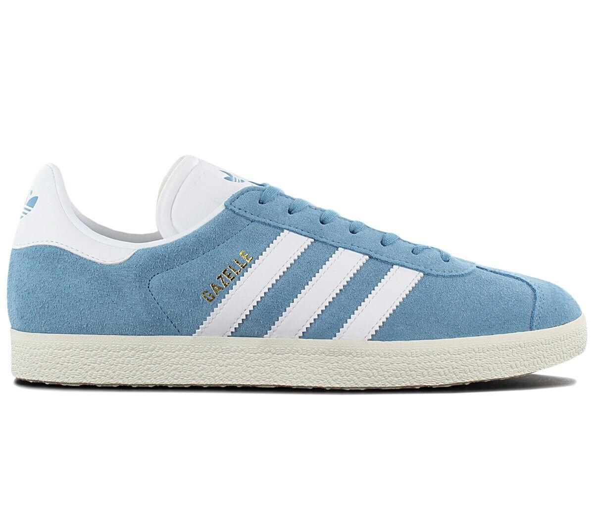 Adidas Originals Gazelle Herren Turnschuhe BZ0022 Blau Schuhe Retro Turnschuhe NEU