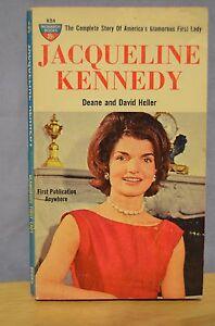 Jacqueline-Kennedy-biography-paperback-book-Monarch-1961-Deane-David-Heller