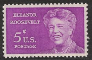 Scott-1236-Eleanor-Roosevelt-Prima-Donna-MNH-5c-1963-Non-Usato-Mint