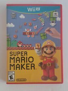 Super Mario Maker (Nintendo Wii U, 2015)  - No Manual  FULLY TESTED