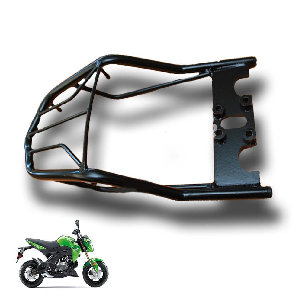 Black Rear Luggage Rack Carco Cover For Kawasaki Z125 Z125 Pro Ebay