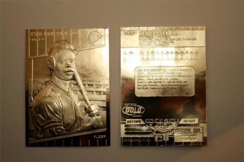 Ken Griffey Jr 1997 Fleer 23kt Gold Card esculpida 1989 Rookie serial #/'d nm-mt