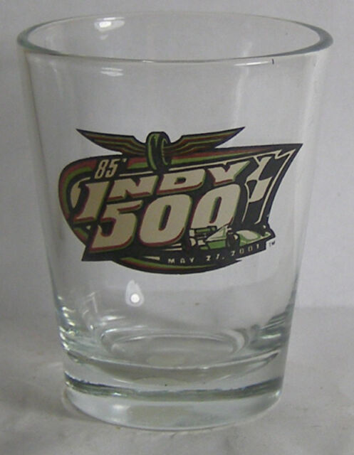 2001 85'th Running Of  Indy 500 Shot Glass #1340