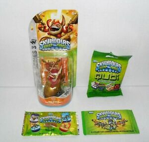 SKYLANDERS-SWAP-FORCE-BIG-BANG-TRIGGER-amp-DOG-TAG-COLLECTOR-CARDS-amp-QUBI-LOT