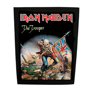 Iron-Maiden-Official-Officiel-Arriere-Patch-The-Trooper-Heavy-Metal-Eddie