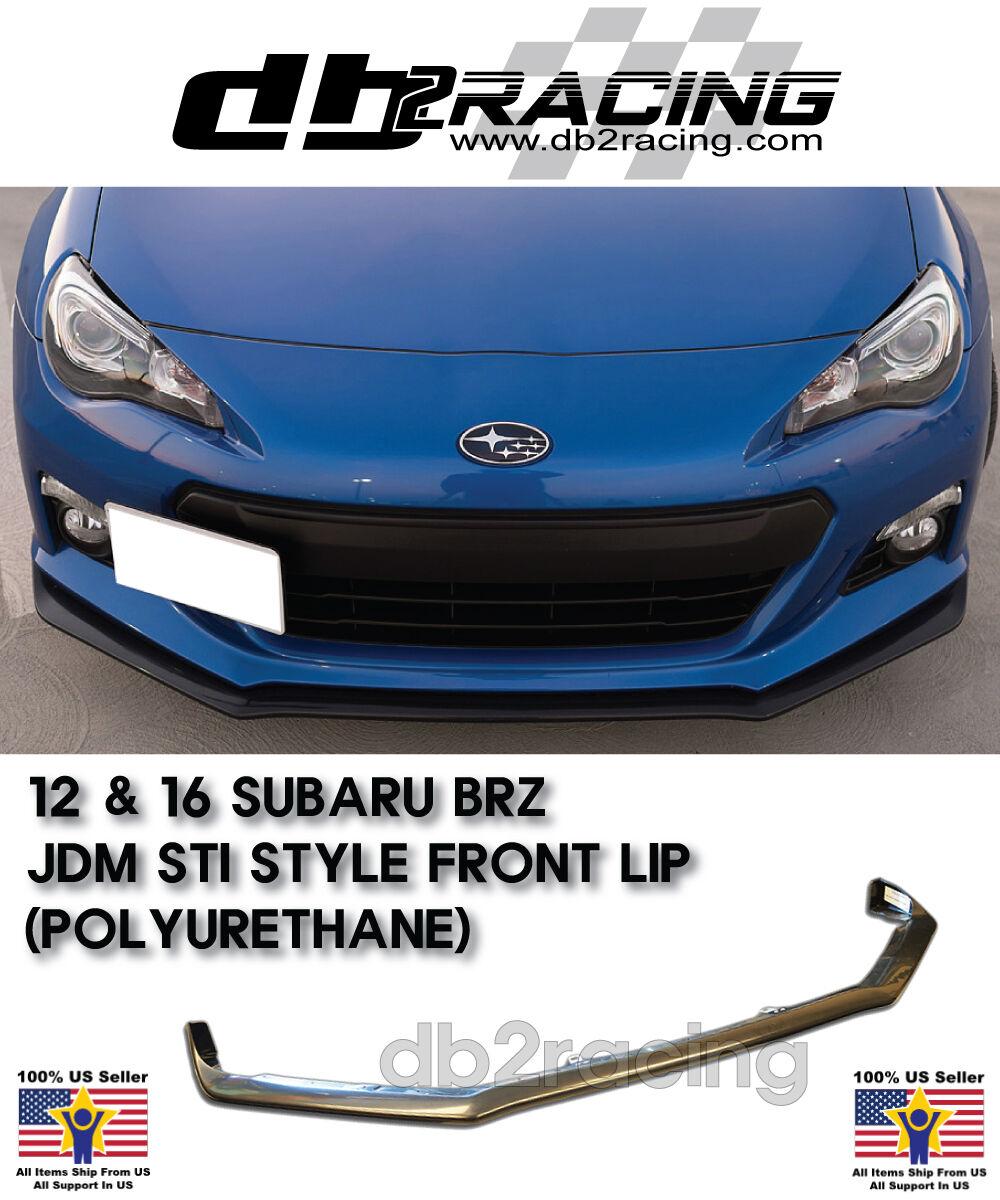 Fits 12-16 Subaru BRZ STi tS Style Front Bumper Lip Carbon