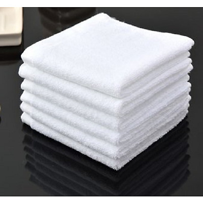 12 PACK NEW WHITE 12X12 100% COTTON HOTEL GYM CLEANING HD ECONOMY WASH CLOTHS