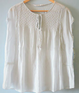 Zara-Shirred-Tie-Neck-Sheer-Smock-Top-Cap-Sleeve-Boho-Swing-Blouse-Pale-Blue-10
