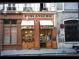 LYON-II-Arrt-69-Devanture-de-COMMERCE-BOULANGERIE-Rue-d-039-AUVERGNE-en-1997
