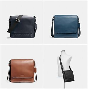... purchase image is loading coach f28576 f72220 mens charles small  messenger leather f8664 2058b 3d443d7dee78a