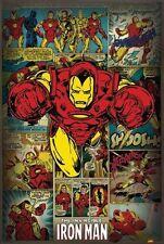 The Invincible Iron Man Retro Vintage-Style 24x36 Poster Marvel Comics Avengers