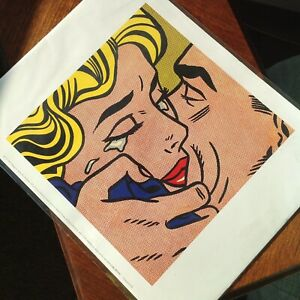 Kiss V 1964 by Roy Lichtenstein Art Print Romantic Romance Poster 11x14