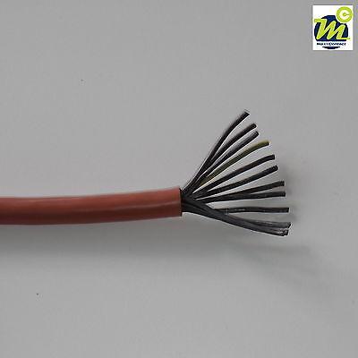 Sihf Silikonkabel 10x1,5mm² Din Vde Zert In Braun,halogenfrei Flexibel