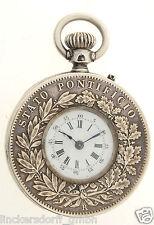 Orologio da tasca papa Pio IX-münzuhr-PIVS-età per 1870-ESTREMAMENTE RARA OROLOGIO!