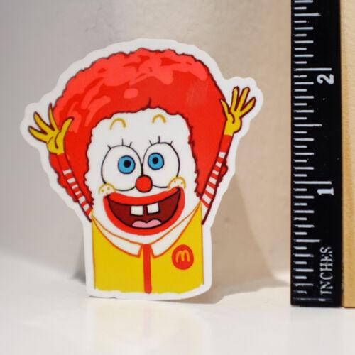 Parody Happy McDonald x Spongebob Creepy Clown 6cm Decal Sticker #4195