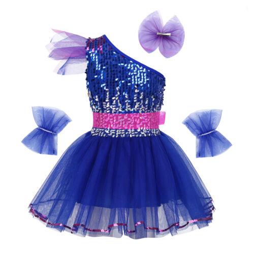 Clothing Shoes Accessories Other Kids Dancewear Girls Sequined Modern Jazz Dancewear Kids Hip Hop Dance Costume Top Tutu Dress Sraparish Org