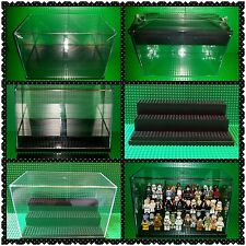 Lego Minifigures Collectors #1 Stackable Multi-Level Clear Storage Display Case