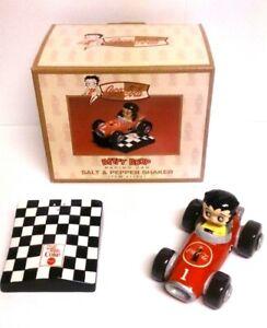 Vandor-2000-Coca-Cola-Betty-Boop-Racing-Car-Salt-and-Pepper-Shaker-model-11331