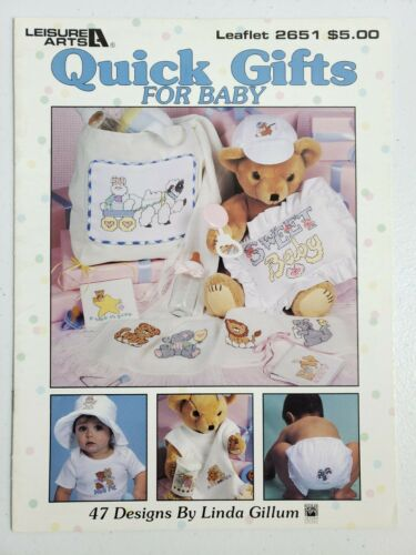 217 Leisure Arts Cross Stitch Quick Gifts for Baby 47 Designs Animals Stars