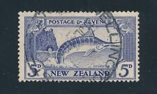 "1935 New Zealand ""STRIPED MARLIN"" #192 USED, F-VF, CAT VALUE $35"
