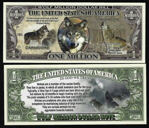 Monarch Butterfly Million Dollar Novelty Bill with facts Lot of 25 Bills