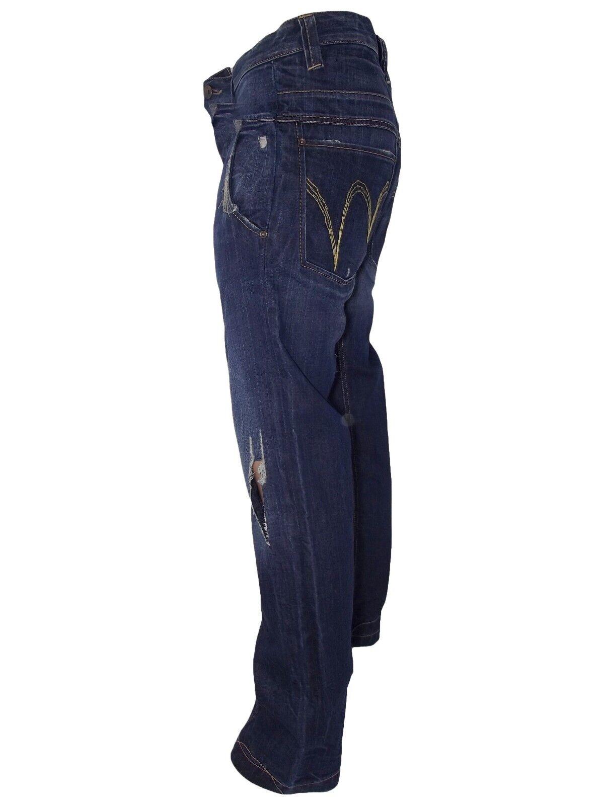 Jeans Denim Met 47 W Uomo It Blu Taglia Italy Dritto 33 Made sQCrthdx