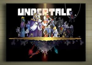 UNDERTALE-FRAMED-CANVAS-POSTER-SIZE-A1-A2-A3-A4-ANIME-MANGA-ROLE-PLAY-COSPLAY