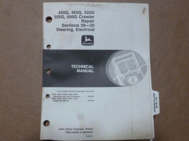John Deere 450g 455g 550g 555g 650g Crawler Electrical Wiring Diagrams Manual