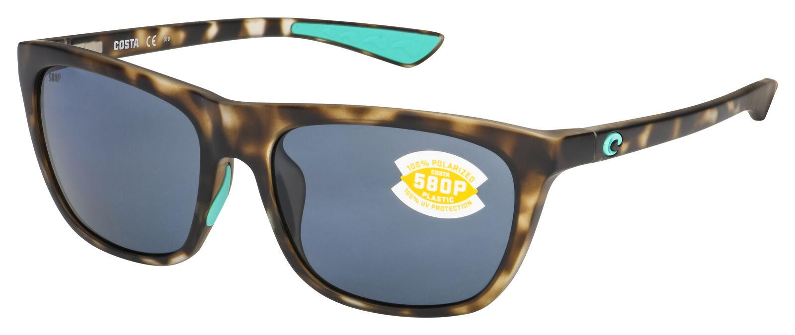f25c56e6033ae Costa Del Mar Cheeca Polarized Sunglasses Tortoise Gray 580p Cha 249 OGP  for sale online