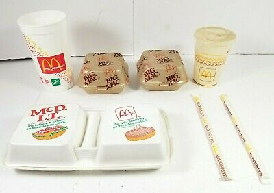 Vintage McDonald/'s Quarter Pounder Styrofoam clamshell Fast Food container New