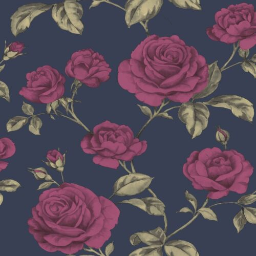 Boutique Navy Countess Wallpaper