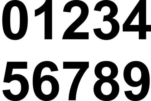 5 A SIDE SET OF FOOTBALL SHIRT NUMBERS 1-8 WHITE EASY TO APPLY Iron Heatpress