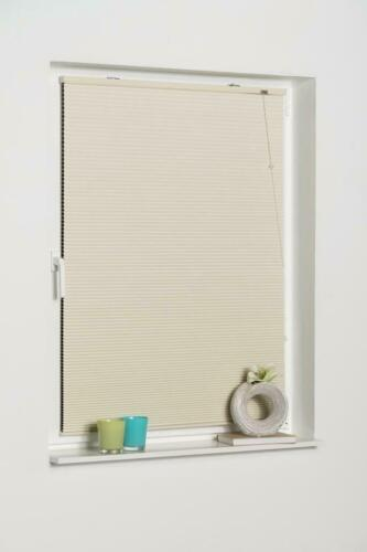 K-HOME Plissee freihängend Klemmfix Wabenplissee ohne Bohren verdunkelnd
