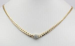 Collier-in-14kt-585-er-Gelb-Weiss-Gold-mit-Brillanten-Brillant-Hals-Kette-Ketten