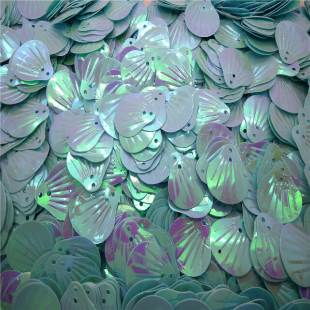 NEW DIY 20mm 60pcs shiny Decorate Seashells loose sequins Paillettes sewing ZX05