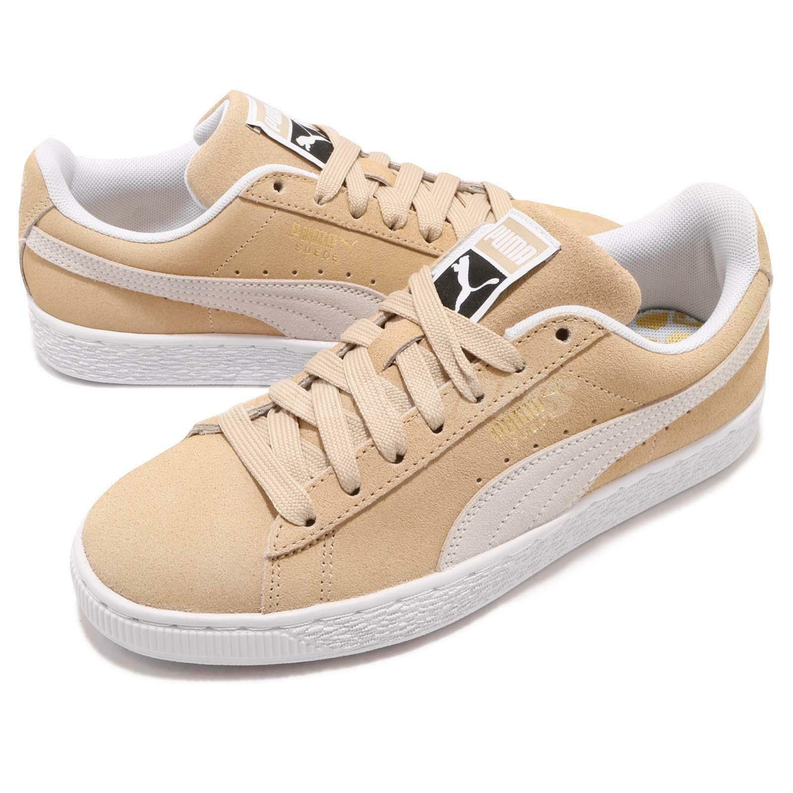 PUMA SUEDE CLASSIC LOW SNEAKERS MEN SHOES CREAM WHITE 365347-11 SIZE 9 NEW
