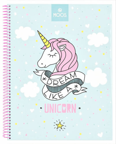Einhorn Notizbuch Spiralblock Ringbuch Collegeblock Block Buch Notizen Unicorn