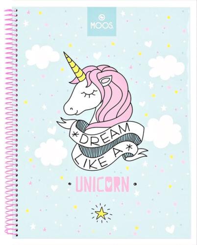 Einhorn Notizbuch Spiralblock Ringbuch Collegeblock Block Buch Notizen Unicorn
