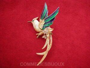 """Broche """"phoenix"""" N° 5 Dorée Oiseau De Feu Mythique - Bijoux Vintage Sphinx"""